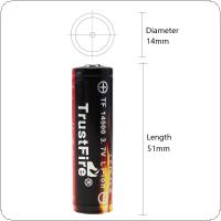 TrustFire 2pcs 3.7V 900mAh 14500 Li-ion Rechargeable Battery with Protected PCB for LED Flashlights / Headlamps