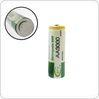 BTY 12pcs AA Battery 3000mah 1.2V Rechargeable Ni-MH Batteries With 1000 Cycle for Flashlights / Game / Toys