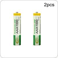BTY 2pcs AAA Battery 1000mah 1.2V Rechargeable Ni-MH Batteries Set With 1000 Cycle for Digital Camera / Game / Flashlights  / Toys