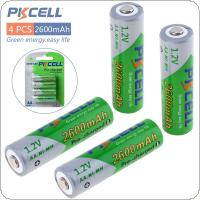 Pkcell 4pcs 1.2V AA R6 Ni-Mh 2600mAh LSD Rechargeable Batteries High Capacity Pre charged Batteries Set With 1200 Cycle Fit for PDA Digital Camera / Game / MP3