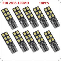10pcs Canbus Error Free T10 168 194 W5W Wedge 12SMD 2835 Car LED Auto Light