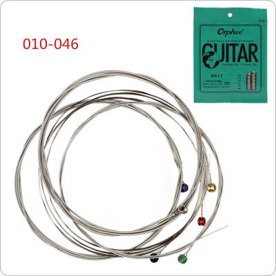 6pcs/set Electric Guitar String 010-046 Nickel Plated Steel Guitar Strings Great Bright Tone & Normal Light