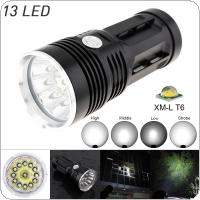 13x XML-T6 LED 2000Lm Super Bright Backpacking Hunting Fishing Flashlight Torch Flash Lamp