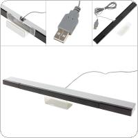 Sensor Bar Receiver Wired Infrared with USB Cable Fit for Wii Console