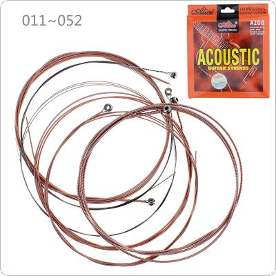 6pcs/set Acoustic Guitar Strings 011 - 052 Inch Stainless Steel Coated Copper Alloy String