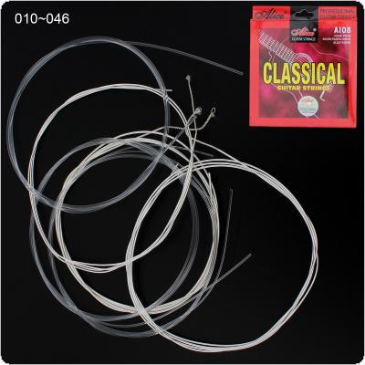 6pcs/set Classical Guitar Strings 028-043 Inch Clear Nylon Silver Plated Copper Alloy Strings