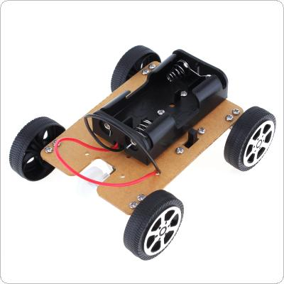 DIY Mini Car of Science and Technology Hand-made  Educational  Assembly Smart Car Kit Fits for Children