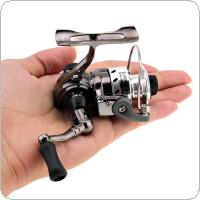 Mini Fishing Reel Palm Size Metal Coil Pocket Small Spinning Reel for Ice Fish Pen Fishing Rod
