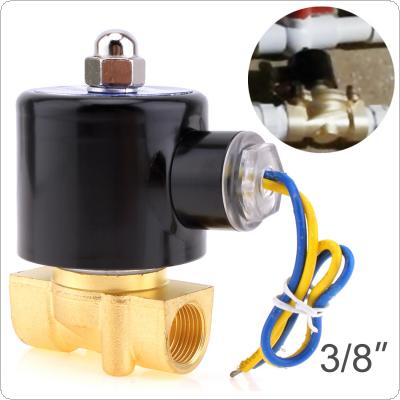 "Solenoid Valve DC 12V 3/8"" NPT N/C Brass Normally Closed Electric Valve for Water Oil Air  gas Fuels"