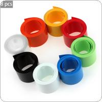 8Pcs / Set Multi-Color Round PVC Heat Shrink Tubing 2m*18.5mm Tube Wrap Kits Protection Tube for 18650 18500 Battery