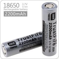 TrustFire 2pcs 2200mah 35A 3.7V IMR 18650 Drain Rechargeable Li-ion Battery with High Capacity for Electric Tools / Headlamps / Flashlights