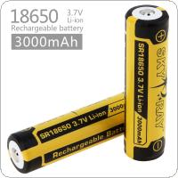 Skyray 2pcs 3.7V 3000mah 18650 Li-ion Rechargeable Battery with Protected PCB for LED Flashlights / Headlamps