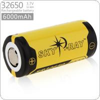 Skyray 3.7V 6000mAh 32650 Rechargeable Li-ion Battery with Protected PCB for LED Flashlights / Headlamps