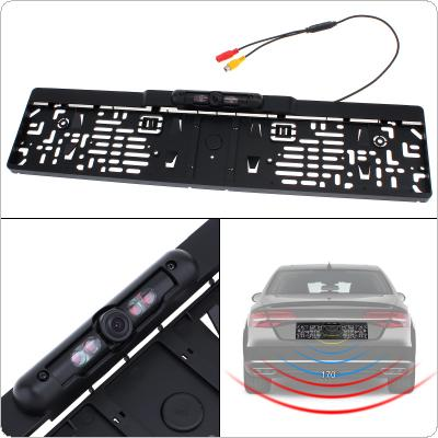Auto Parktronic EU Car License Plate Frame Rear View Camera HD Night Vision Reverse Rear View Camera with 4 IR Light