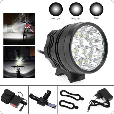 15x XM-L T6 LED Bicycle Lamp Bike Light Headlight Cycling Torch with 8.4V 6400mAh Battery Set