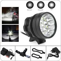 16 x XM-L T6 LED Bicycle Lamp Bike Light Headlight Cycling Torch with 8.4V 6400mAh Battery Set