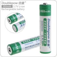 Doublepow 2pcs 10440 AAA350mAh 3.7V Li-ion Rechargeable Battery with Safety Relief Valve for Flashlights / Laser Pens / Headlamps