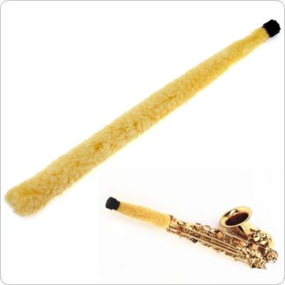Alto Saxophone Cleaner Yellow Soft Fiber Brush Pad Saver Durable and Easily Keep Saxophone Clean and Dry