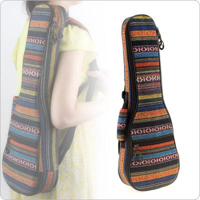 21 Inch 23 Inch Ukulele Backpack Small Guitar Hand Portable Bag Beautiful Soft Pad Cotton Thickening Folk Style Case Cover