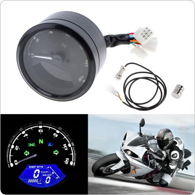CS-363 12000RPM LCD Digital Tachometer Speedometer Odometer for Motorcycle Scooter Golf Carts ATV