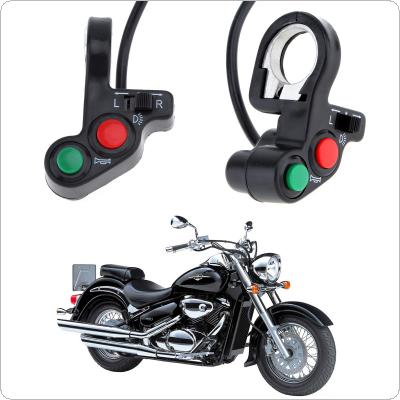 Motorcycle Signal & Horn Switch ON / OFF  Green + Red Button Headlight Control for 22mm Dia Handlebars
