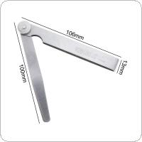 100 x 17 Blade Stainless Steel Feeler Gauge with Adjustable Nut and 0.02 - 1.00mm Measuring Range