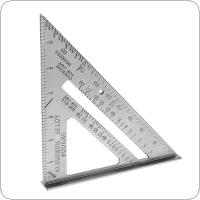 7 Inch Aluminium Alloy Right Angle Triangle Ruler with 0.1 Accuracy and 1 Scale Value for Industrial Measurement