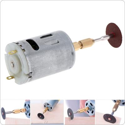 12V 1A Mini 545 Electric Motor Polisher Cutting Machine with 3.175mm Drill Collet and 10pcs Resin Cutting Sheets