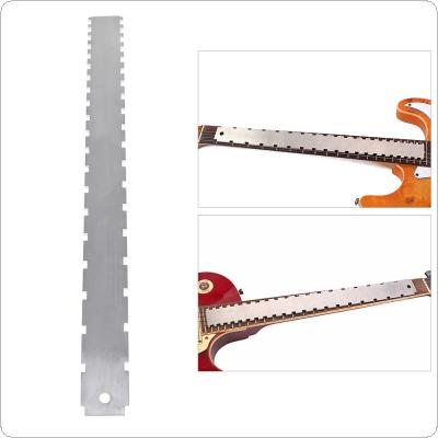 Dual Scale Stainless Steel Guitar Neck Notched Straight Edge Luthiers Tool Measurement Fretboard and Frets