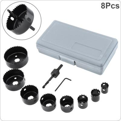 8pcs 19-64mm Hole Saw Bit Cutting Set Kit Drilling Tool Round Case Drill Bits for Gypsum Board