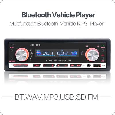 JSD 20158 12V Car Radio MP3 Player In-dash FM Receiver Bluetooth Autoradio Car Stereo Audio with USB Port & Aux Input & Remote Control
