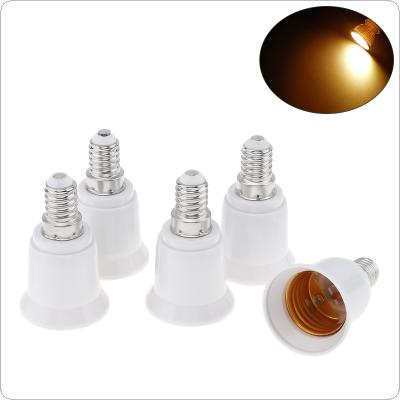 5pcs E14 to E27 LED Bulb Base Adapter Plug Extender Universal Light Converter Lamp Socket Holder