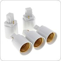 5pcs G24 to E27 Bulb Base Adapter LED Lamp Socket Holder Universal Light Converter with 2 Pin