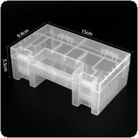 Powerlion Clear Hard Plastic AA Battery AAA Case Holder Storage Box for 20pcs AA / 14pcs AAA / 2pcs 9V Batteries