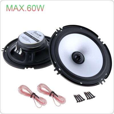 2 pcs 6.5 Inch 60W Car Speaker Automobile Car HiFi Audio Full Range Frequency Speaker High Pitch Loudspeaker