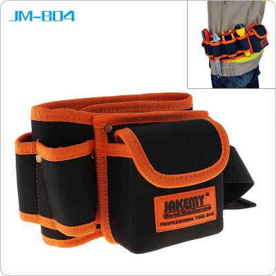 JM-B04 Multi-function Durable Belt Electrician Mechanic Canvas Tool Bag Utility Kit with Pocket Pouch