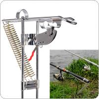 Automatic Double Spring Fish Rod Holder Anti-Rust Steel Fishing Pole Bracket
