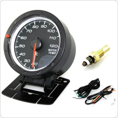 60MM 2.5Inch 12V 20~120 Degree Celsius Universal Car Motor Gauge Water Temperature Meter Black Shell with Red & White Lighting