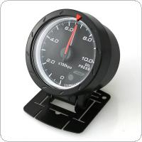 60MM 2.5Inch 12V 10 x 100KPa Universal Non Smoke Oil Pressure Car Gauge Meter Black Shell with Red & White Lighting