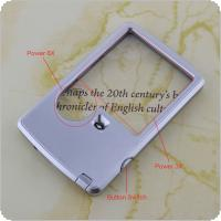 3X/6X  4B-3 Card Type Ultra-thin 2 Lens  Adjustable Handheld Square Magnifier with LED Light for Reading and Repairing