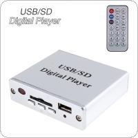 Power Amplifier MP3 SD USB Audio Player Reader 3-Electronic Keypad Control with Remote