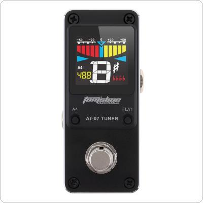 Mini Guitar Tuner Effect Pedal High Sensitivity Guitar Stompbox Tuner with HD Display