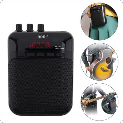 5W Compact Portable Guitar Amp Recorder Speaker Multifunction Guitar Amplifier Support Microphone Input and Recording Function