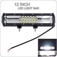 7D 12 Inch 324W Car Work Light Bar Triple Row Spot Flood Combo Offroad Light  Driving Lamp for SUV / Truck / ATV