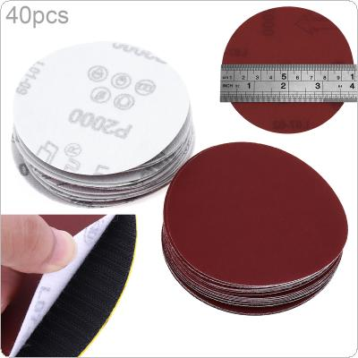 40pcs 100mm polished / Rust Dry Grinding Sandpaper White Abrasive Paper Abrasive Tool for Electric Grinder