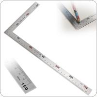 Right Angle Ruler Stainless Steel 150 x 300mm 90 Degree Angle Metric Ruler