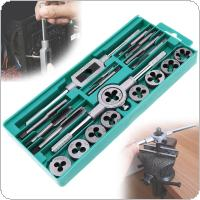20pcs Metric Tap and Die Set M3-M12 Alloy Steel Threading Tool with Storage Case