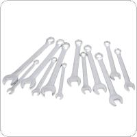 12pcs 8mm-19mm Combination Spanner Set Professional Ratchet Wrench Tool for Installation / Maintenance