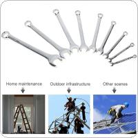 9pcs 6mm-22mm Combination Spanner Set Dual-use Mirror Wrench for Home Installation / Maintenance