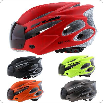 GUB K80 PLUS 56-62cm Magnetic Goggles Ultralight Bicycle Helmet with 21 Air Vents and Sunvisor for Cycling